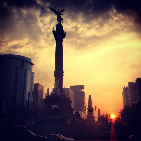 The statue of Angel of Indipendence, Paseo de la Reforma, Mexico City