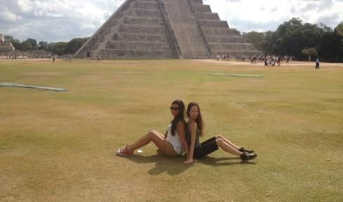 Me and Sandrine at Chichen Itza, Yucatan