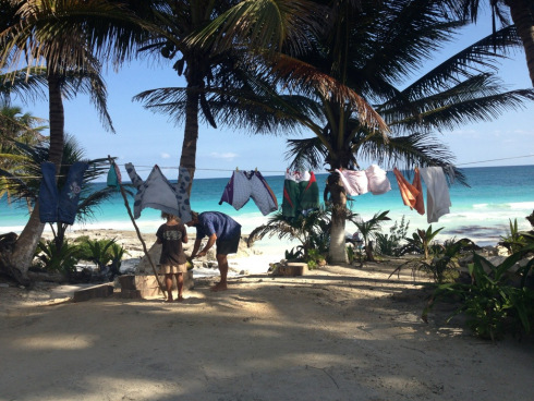 Afternoon laundry in Tulum