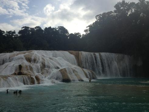 Cataratas de Agua Azul, Blue waterfalls in Chiapas