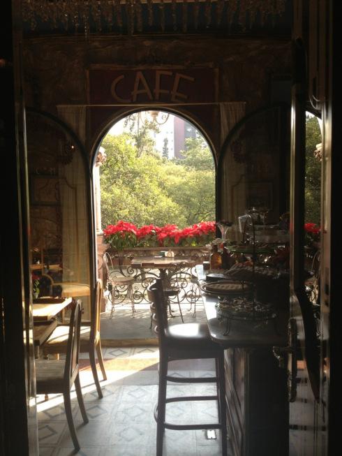 A lovely cafe in Polanco, Mexico City